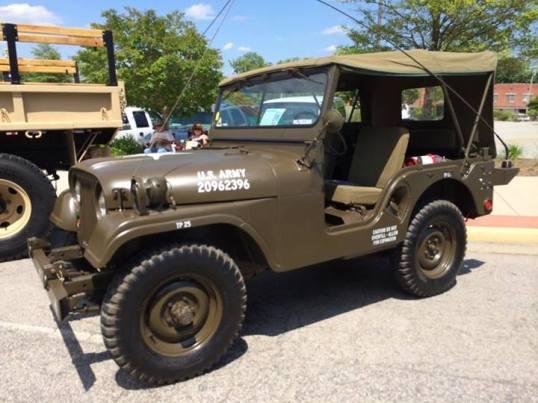 Jeep at car show